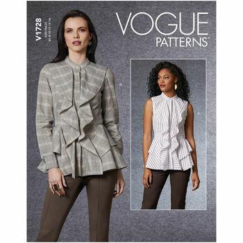 Vogue Pattern V1728 Peplum Top