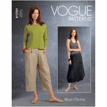 Vogue Pattern V1731 Deep-Pocket Skirt & Pants