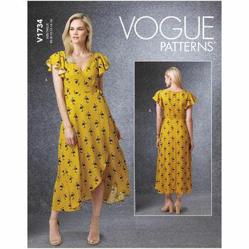 Vogue Pattern V1734 Wrap Dresses