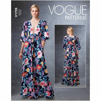 Vogue Pattern V1735 Kimono-Style Dresses