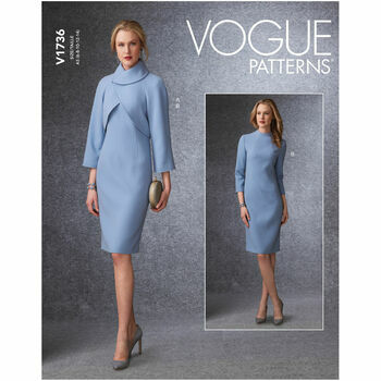 Vogue Pattern V1736 Raglan-Sleeve Jacket