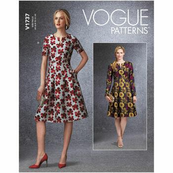 Vogue Pattern V1737 Fit-And-Flare Dresses