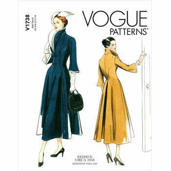 Vogue Pattern V1738 Fit-and-Flare Dress