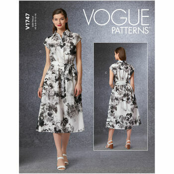 Vogue Pattern V1747 Dress & Belt