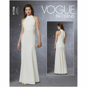 Vogue Pattern V1748 Special Occasion Dress