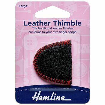 Hemline Leather Thimble - Large