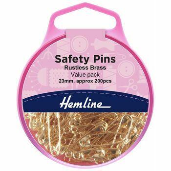 Hemline 23mm Safety Pins Value Pack (200 Pieces)