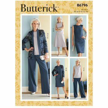 Butterick Pattern B6796 Jacket, Dress, Top, Skirt & Pants
