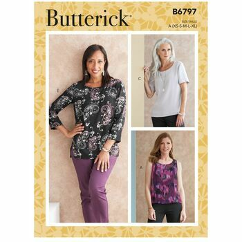 Butterick Pattern B6797 Scoop-Neck Tops