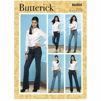Butterick Pattern B6800 Jeans & Trousers