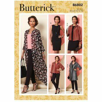 Butterick Pattern B6802 Jacket, Dress & Pants