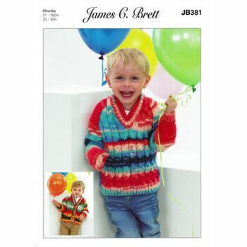 James C. Brett Pattern Party Time Chunky JB381