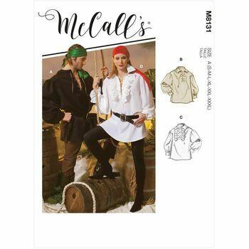McCalls Pattern M8131 Unisex Shirts