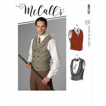 McCalls Pattern M8133 Mens Vest