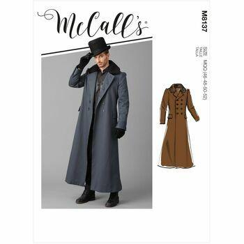 McCalls Pattern M8137 Mens Coat