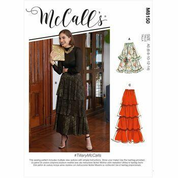 McCalls Pattern M8150 Misses Skirts