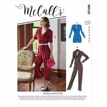 McCalls Pattern M8153 Misses Romper, Jumpsuit & Belt