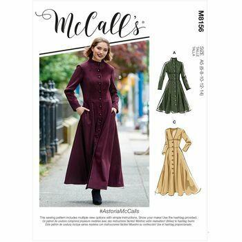 McCalls pattern M8156 Misses Coats