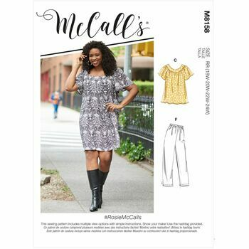 McCalls Pattern M8158 Womens Tops, Dresses, Shorts & Capri Pants
