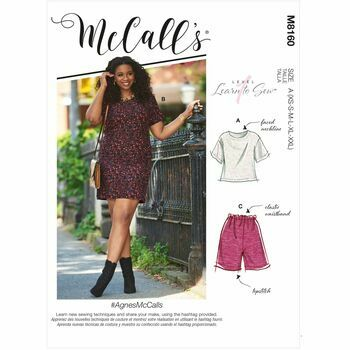 McCalls Pattern M8160 Short Sleeve Top, Dress, Pull-On Shorts & Pants