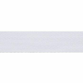 Essentail Trimmings White Herringbone Tape - 25mm (Per Metre)