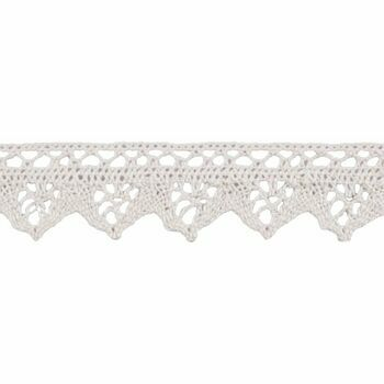 Essential Trimmings Cotton Lace Trimming - 30mm (Natural) Per metre