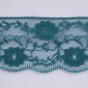 Essential Trimmings Nylon Lace Trimming - 55mm (Petrol Blue/Teal) Per metre