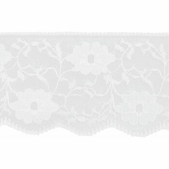 Essential Trimmings Nylon Lace Trimming - 60mm (White) Per metre
