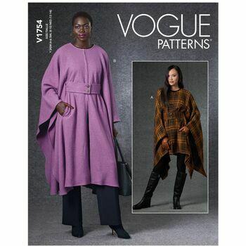 Vogue Pattern V1754 Misses Cape