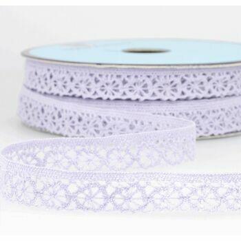 Stephanoise Polyester Lace Trim - 15mm (Mauve) Per metre