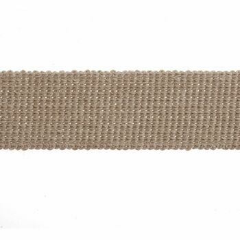 Essential Trimmings Cotton & Acrylic Webbing Tape - 40mm (Stone) Per metre