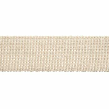 Essential Trimmings Cotton & Acrylic Webbing Tape - 40mm (Natural) Per metre