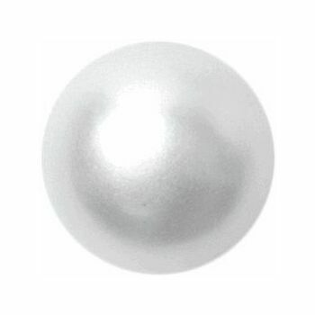 White Pearl Effect Button: 11mm