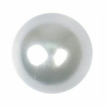 White Pearl Effect Button: 10mm