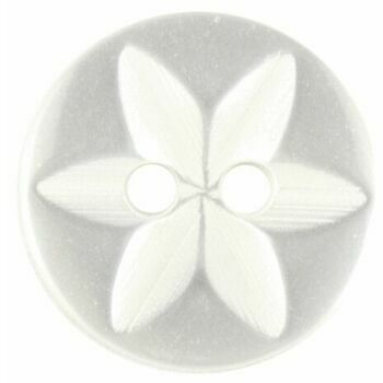 Star Fisheye Button: 14mm: White