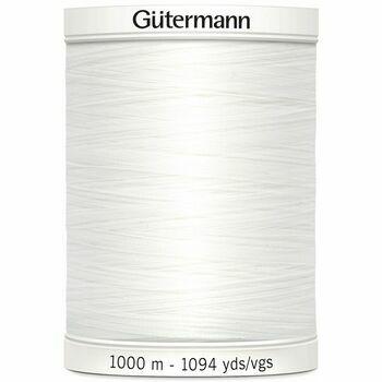 Gutermann White Sew-All Thread: 1000m