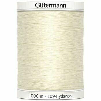 Gutermann Cream/Off-White Sew-All Thread: 1000m (1)