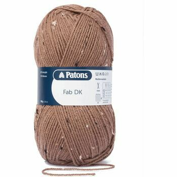 Patons Fab Double Knitting Yarn (100g) - Brown Tweed (Pack of 10)