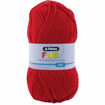 Patons Fab Double Knitting Yarn (100g) - Cherry (Pack of 10)