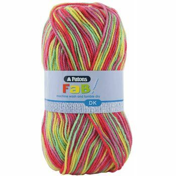 Patons Fab Double Knitting Yarn (100g) - Clown Colour (Pack of 10)