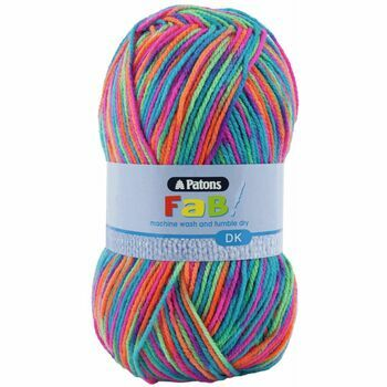 Patons Fab Double Knitting Yarn (100g) - Fruity (Pack of 10)