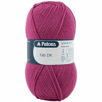 Patons Fab Double Knitting Yarn (100g) - Strawberry (Pack of 10)