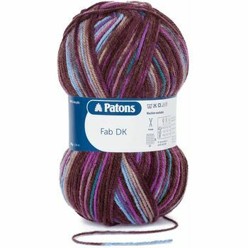 Patons Fab Double Knitting Yarn (100g) - Violet Print (Pack of 10)