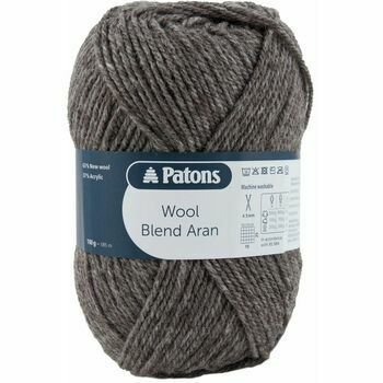 Patons Wool Blend Aran Yarn (100g) - Taupe (Pack of 10)