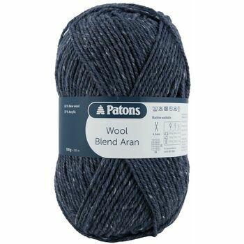 Patons Wool Blend Aran Yarn (100g) - Airforce (Pack of 10)