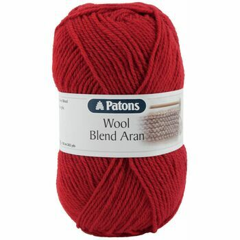 Patons Wool Blend Aran Yarn (100g) - Cherry (Pack of 10)