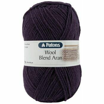 Patons Wool Blend Aran Yarn (100g) - Purple (Pack of 10)