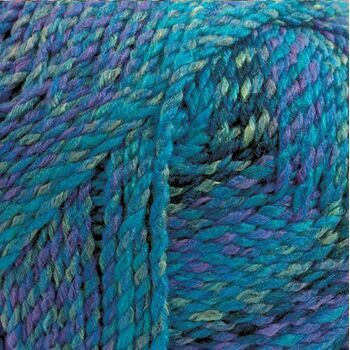 Marble Chunky Yarn - Blue and Purple (200g)