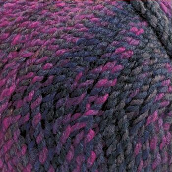 Marble Chunky Yarn - Deep Purple (200g)