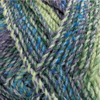 Marble Chunky Yarn - Purple and green (200g)
